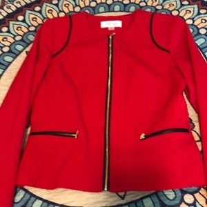 Calvin Klein red and black jacket. Size 4.